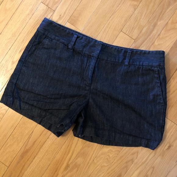 LOFT Pants - LOFT Dark Denim Shorts with 3-inch Inseam